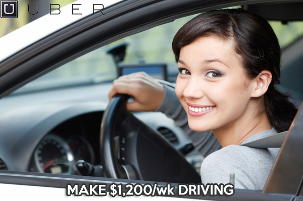 Make up $1,200 per week driving with Uber